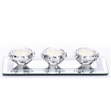 Gemstone Tealight Holder 3pce Set
