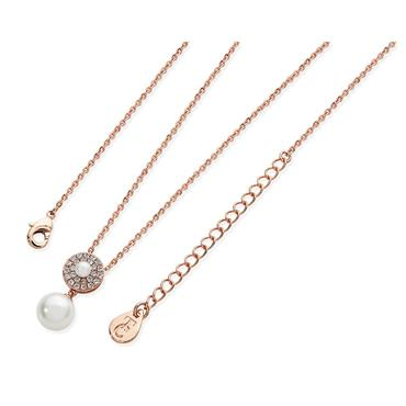 Rose Gold Pearl Necklace by Tipperary Crystal