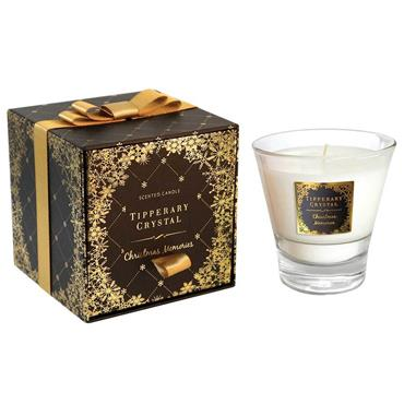 Christmas Memories Candle Filled Tumbler - Tipperary Crystal