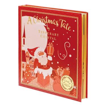 Red Christmas Story Book -  Set of 4 Decorations