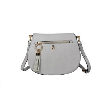 Tipperary Crystal Savoy Satchel Bag - Grey