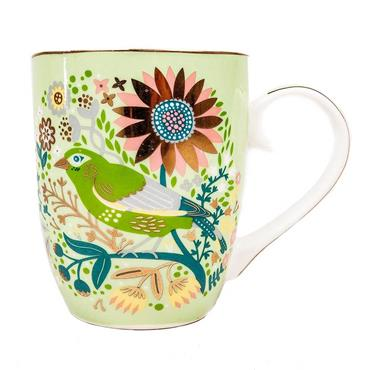 Greenfinch Birdy Mug from Tipperary Crystal
