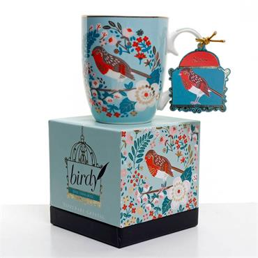 Bailey & Brooke Single Birdy Mug - Robin