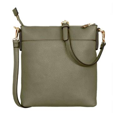 Chelsea Cross Body Bag - Olive by Tipperary Crystal