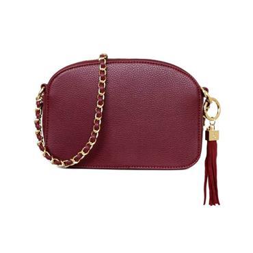 The Cannes Shoulder Bag Burgundy