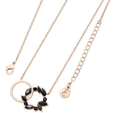 Noir Rose Gold Interlocking Circles Pendant Tipperary Crystal