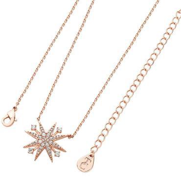 Star bright rose gold pendant