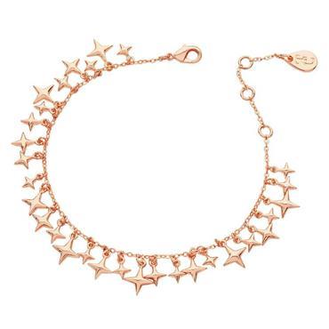 Star Rose Gold Charm Bracelet