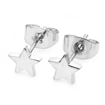 Star Mini Stud Earrings - Silver by Tipperary Crystal