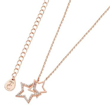 Star interlocking pendant rose gold by Tipperary Crystal