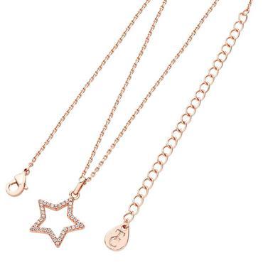 Star pendant open rose gold pendant