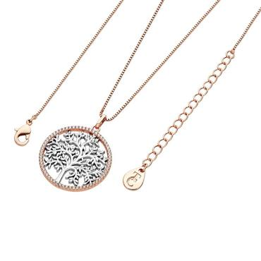 Tree of life in cubic zirconia pendant by Tipperary Crystal