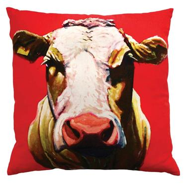 Eoin O Connor Pull The Udder One 45cm Cushion by Tipperary Crystal