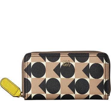 Orla Kiely Big Zip Wallet - Blush
