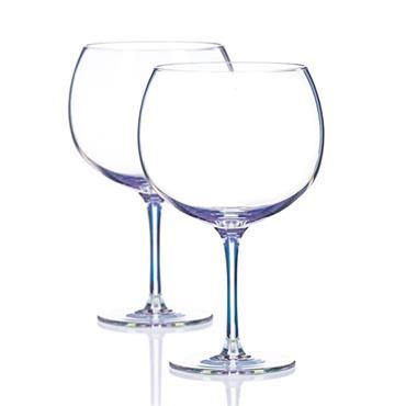 UNICORN LUSTRE GIN GLASSES (PAIR) 700CC