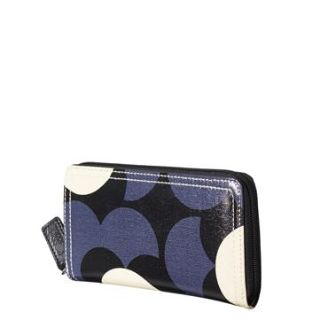 Orla Kiely Big Zip Wallet - Midnight