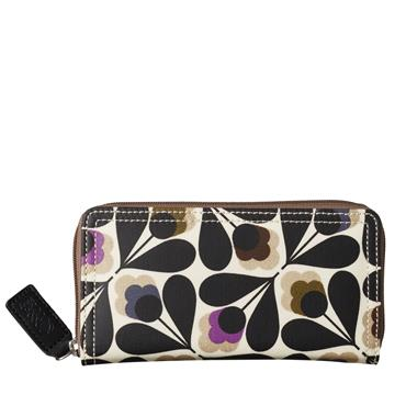 Orla Kiely Sycamore Seed Big Zip Wallet - Multi