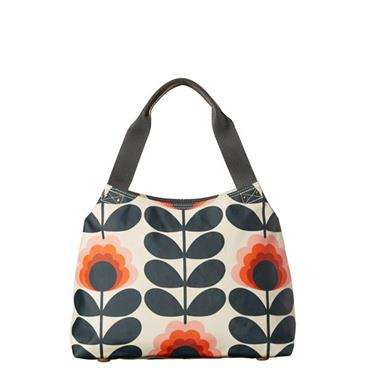 Orla Kiely Summer Flower Classic Zip Shoulder Bag - Sunset