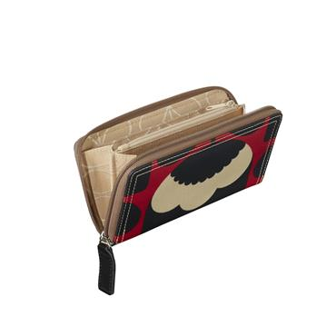 Orla Kiely Big Zip Wallet - Poppy