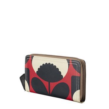 Orla Kiely Big Zip Wallet - Poppy