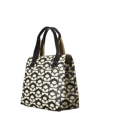 Orla Kiely Zip Messenger Bag - Charcoal