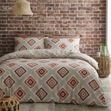 Aztec Reversible Spice Duvet Cover Set