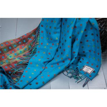 Foxford Turquoise Multi Spot Throw