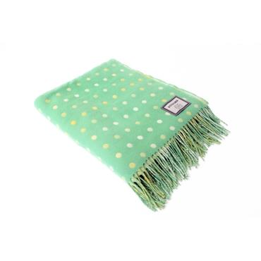 Foxford Pastel Lime Spot Throw