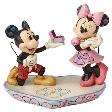 A Magical Moment (Mickey Proposing to Minnie Mouse Figurine)