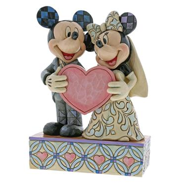 Two Souls, One Heart (Mickey & Minnie Mouse Figurine)