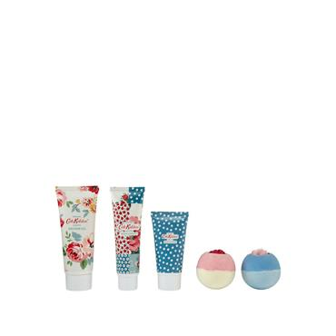 Cath Kidston Cottage Patchwork Pamper Picnic Tin Bath & Body Set