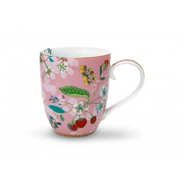 Pip Studio Floral Mug XL Hummingbirds Pink