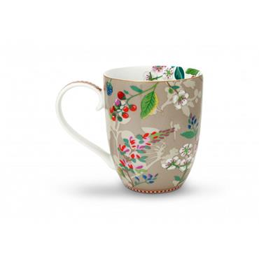 Pip Studio Floral Mug XL Hummingbirds Khaki