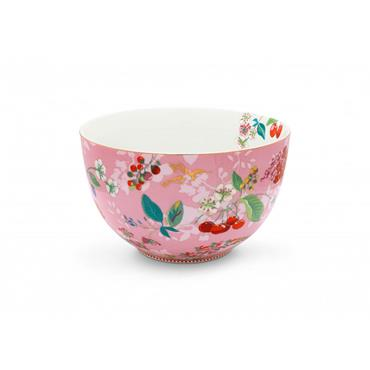 Pip Studio Floral Bowl Hummingbirds Pink