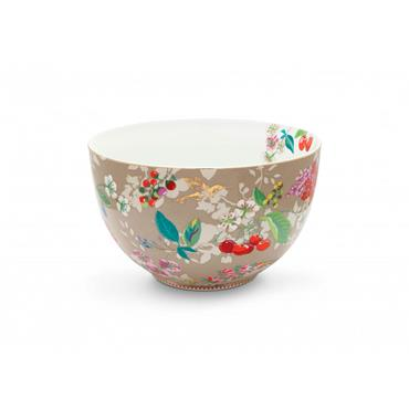 Pip Studio Floral Bowl Hummingbirds Khaki