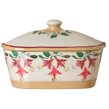 Covered Butter Dish Fuchsia by Nicholas Mosse Pottery