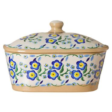 Covered Butter Dish Nicholas Mosse Forget Me Not