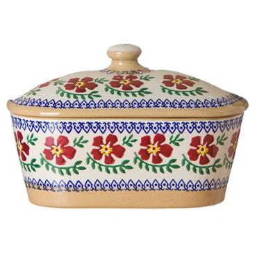Covered Butter Dish Old Rose by Nicholas Mosse Pottery