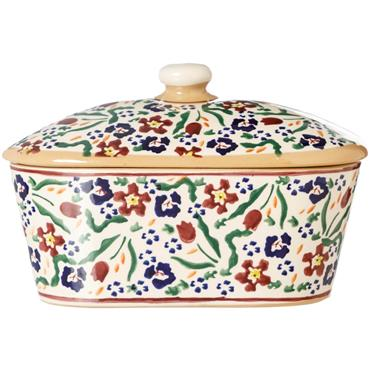 Covered Butter Dish Wild Flower Meadow - Nicholas Mosse Pottery