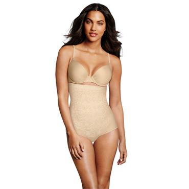Maidenform Fitsense High Waisted Brief in Skin
