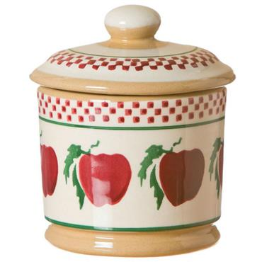 Nicholas Mosse Pottery Lidded Sugar Bowl Apple