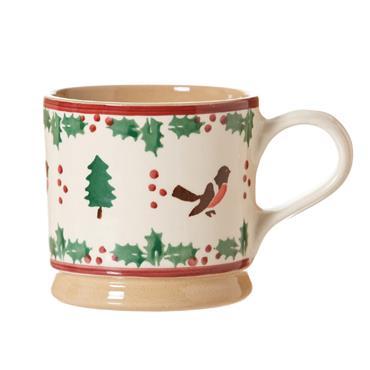 Nicholas Mosse Pottery Large Mug Winter Robin