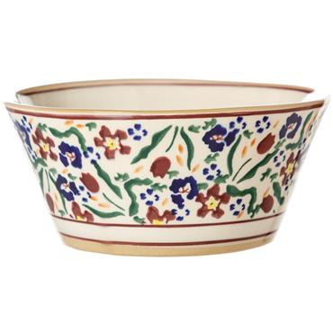 Small Angled Bowl Wild Flower Meadow by Nicholas Mosse Pottery