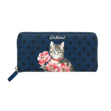 Cath Kidston Cats & Flowers Zip Wallet