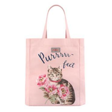 Cath Kidston Cats & Flowers Lightweight Tote Bag