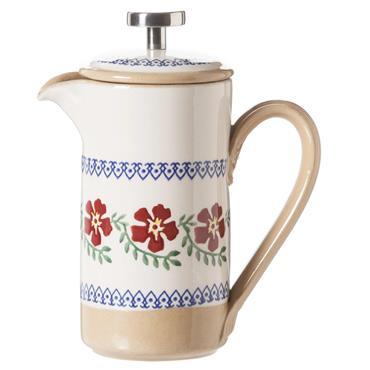 Small Nicholas Mosse Pottery Old Rose Cafetiere