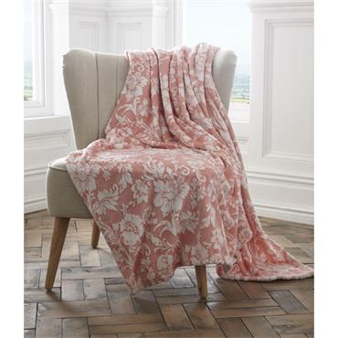 Pascal Luxury Throw - Coral