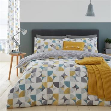 Retro Circles Duvet Cover Set, Multi from Catherine Lansfield