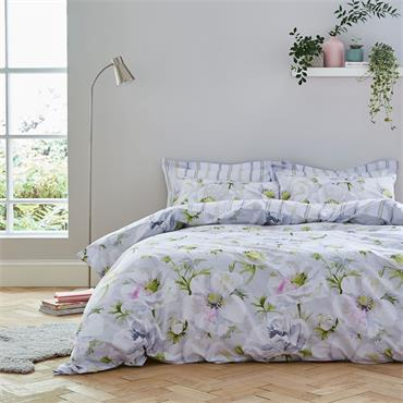 Bianca Arctic Poppy Floral Print 100% Cotton Reversible Duvet Cover Set