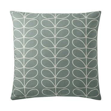 Orla Kiely Small Linear Stem Cushion - Duck Egg